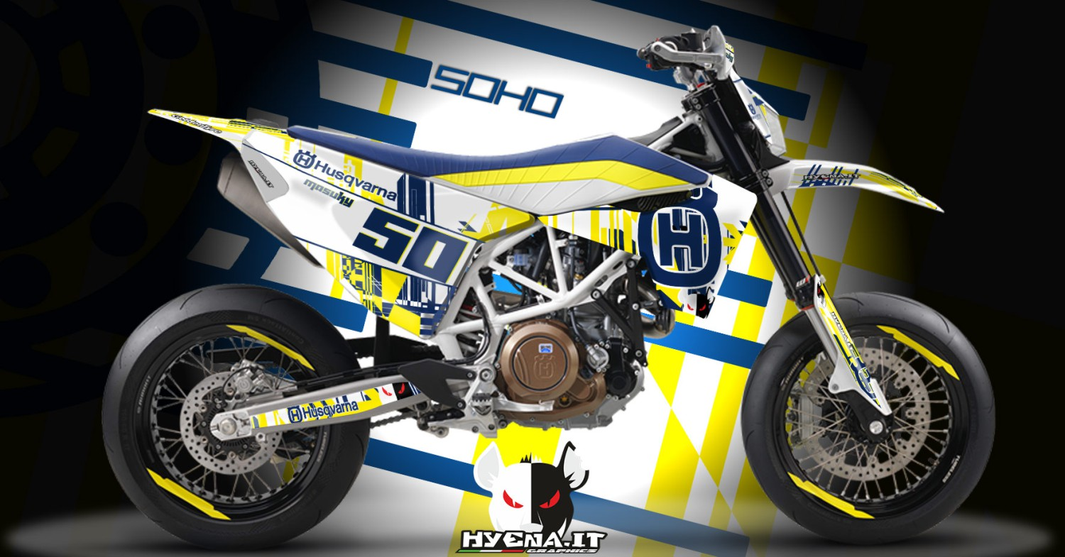graphic kit husqvarna 701 supermoto 2016 soho. Black Bedroom Furniture Sets. Home Design Ideas