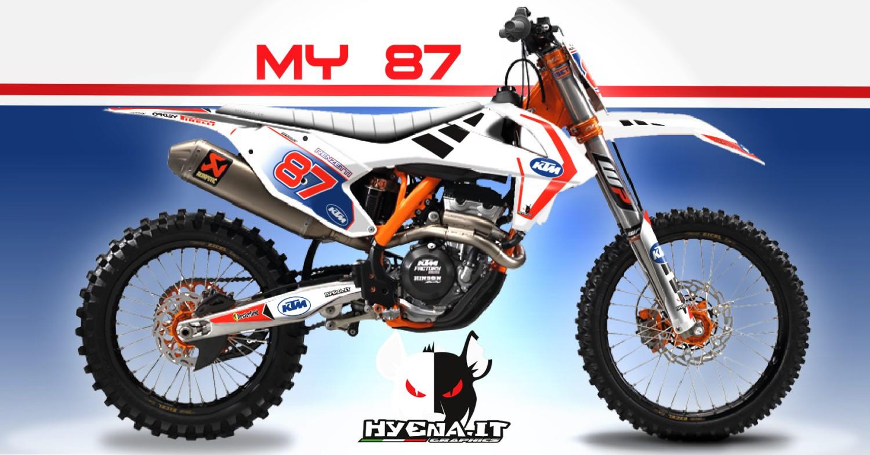 Graphic kit ktm sxf 250 2018 my87